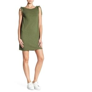 Sanctuary Green Tie Shoulder Tank Top Shirt Dress
